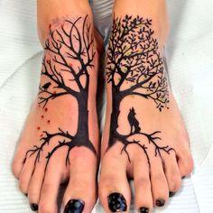 Tree of life tattoo on my feet