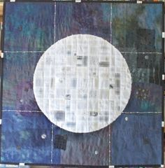"""""""Midnight"""" art quilt.  Hand pieced and hand quilted. In The Peace Gallery at Stitching Life"""