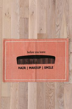 Hair/Makeup/Smile Welcome Mat #urbanoutfitters