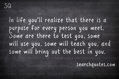 There Is A Purpose For Every Person You Meet