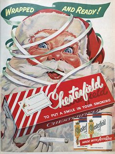 Vintage Chesterfield cig ad - You'd never see this ad today.