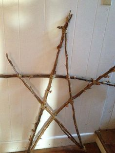Old Barn Star - great for the primitive garden!  make with long twigs...you can make this!! oh yes you can!!