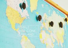 Simple Pine Cone Garland