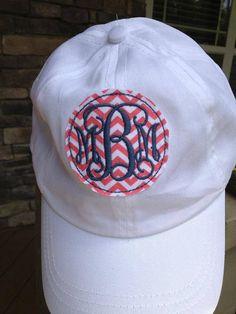 Monogrammed Ball Cap $18 Etsy