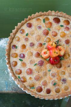 Rainier Cherry Tart! via @kirantarun #cherry #tart #dessert #summer