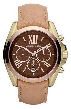 #PerfectWatch:Michael Kors 'Bradshaw'  tri-color Leather Strap Watch