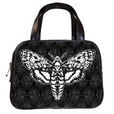 Death's Head Moth Hand Bag by Stuff of the Dead