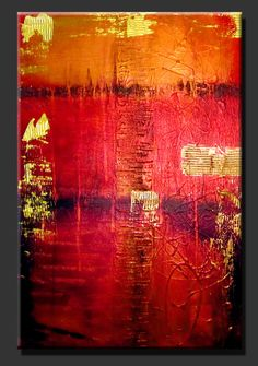 """Abstract Paintings, Contemporary Paintings, Abstract Art, Contemoporary Art, Modern Art  """"Jeweled"""" by Artist Dora Woodrum http://www.NiceModernArt.com"""