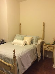 French Provincial bed and nightstand