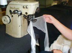 sewing nylon stockings on original machines. #nylonstockings
