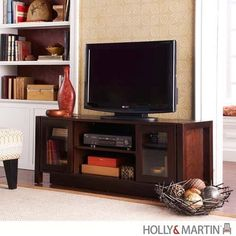 Holly and Martin Kenton TV Stand_Media Console - Espresso - HM-63-138-055-6-12. HM-63-138-055-6-12 - Holly and Martin Kenton TV Stand_Media Console - Espresso This espresso finished media cabinet is the perfect option for those upgrading their home entertainment centers. This piece, designed for current te.. . See More TV Stands at http://www.ourgreatshop.com/TV-Stands-C671.aspx
