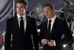 Chris Pine and Tom Hardy, from the movie This Means War. Thanks Dori! You can have Chris and I will take Tom!!! :-)
