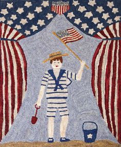 Patriotic Boy on Beach#Repin By:Pinterest++ for iPad#