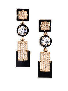 Kate Spade New York Imperial Tile Linear Drop Earrings