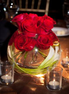 Glam centerpiece we did for a Hollywood themed dinner.