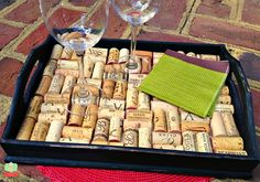 DIY Wine Cork Tray easy craft and gift idea too perfect Valentines day @parademagazine