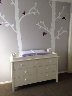 Purple and grey nursery