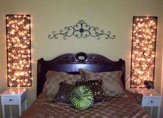 DIY home decor bedroom lights LOVE THIS.