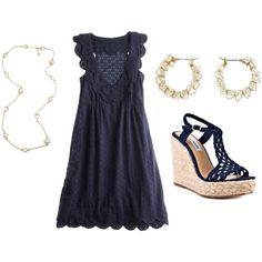 summer dresses, fashion dresses, wedge heels, the dress, summer outfits, dress outfits, dress shoes, the navy, summer weddings