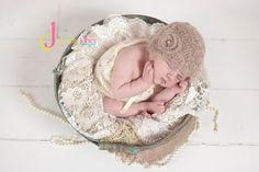 Custom Order Mohair Crochet Scallop Hat sz nb $19 Newborn and Baby Photography props #Snipits #Snipitsink #DesiraeJonesPhotography