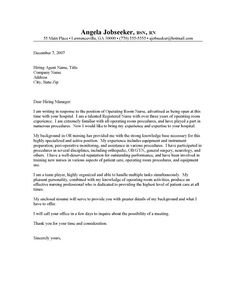 Job Application Letter Sample Nursing