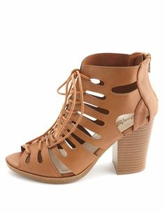 Cut-Out Lace-Up Gladiator Heels: Charlotte Russe