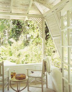 on the verandah...