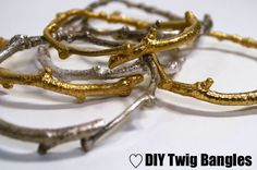 Twig and rope bangles