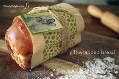 Gift-wrapped bread -