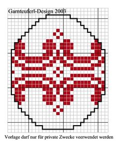 Aufhänger für Ostern free charts easter eggs crossstitch, easter chart, easter eggs