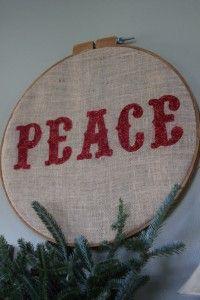 burlap peace