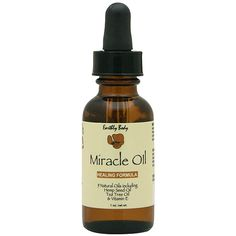 Earthly Body Miracle Oil Healing Formula is a blend of 100% natural & essential oils, featuring three known natural healants. 9 Natural Oils including Hemp Seed Oil, Tea Tree Oil & Vitamin E.    Directions: Apply a small amount of Miracle Oil to all affected areas.