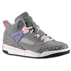 Jordan Spiz'ike - Girls' Preschool - Cool Grey/Liquid Pink/Purple