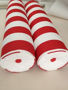 DIY Bolster Pillow- Button Tufted with Flat Ends