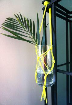 DIY vase with neon c