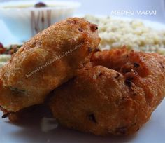Indian street food - Medhu Vadai