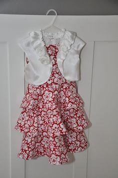 satin bolero, tier dress