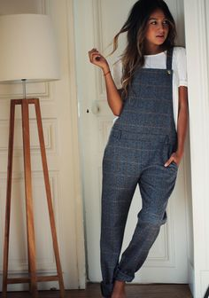 Sézane x SincerelyJules tomboy, dungarees, fashion, cloth, style, outfit, denim, sincer jule, overalls