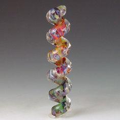 Corkscrew 5 1 lampwork boro/borosilicate bead by redsidedesigns, $10.00