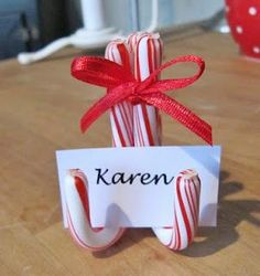 candy cane place holder