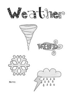 This little weather booklet will allow your students to record information about the following types of weather:tornadoesblizzardshurricane...