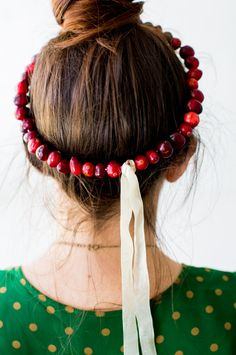 DIY: cranberry crown