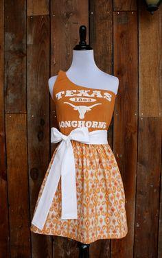 University of Texas Longhorns Game Day Dress   by jillbenimble, $45.00