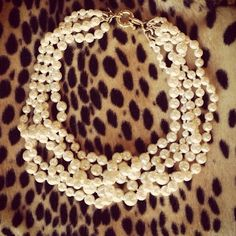 pearls and leopard.....perfection