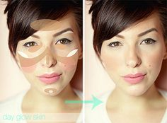 how to create a day glow face look contour makeup, tutorials, bronzer, shades of red, makeup tips, blushes, glow, highlight, makeup contouring