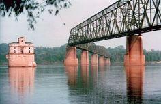 st louis, rock formations, chain, the bridge, rout 66, mississippi river, route 66, rock bridg, place