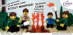 LEGO custom minifig minifigure Scouts