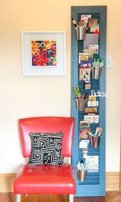 Shutter Organizer in craft room