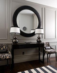 tonal picture frame molding, symmetrical decor