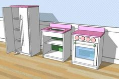 DIY Simple Play Kitchen Stove